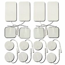 TENS Replacement Electrode Pads- Small & Large Size 16-Pack, Self Adhesive Re...