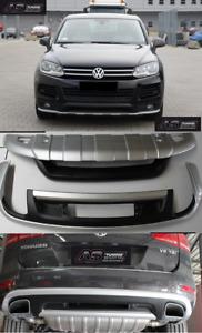BodyKit Unterfahrschutz Silber Frot+Heckansatz Spoiler passend für VW TOUAREG 7P