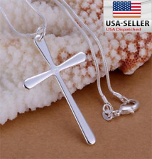 Fashion cute Silver plated Charms cross Pendant Beautiful women Necklace jewelry