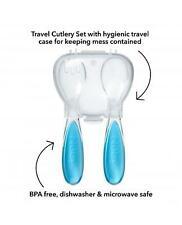 Nuby Fork & Spoon Travel Cutlery Blue