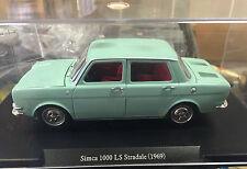 "DIE CAST "" SIMCA 1000 LS STRADALE (1969) "" SCALA 1/24  AUTO VINTAGE"