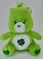 Care Bears Plush vtg stuffed animal Good Luck Green shamrock Nanco 2004