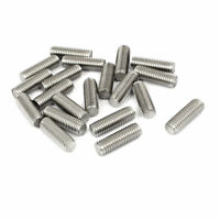 M8 x 25mm 1.25mm Pitch 304 Stainless Steel Fully Threaded Rods Bar Studs 20 Pcs