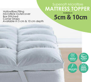 """2"""" & 4"""" Deep Luxury Soft Hotel Quality Microfiber Mattress Bed Topper All Sizes"""