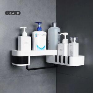 Corner Shelf Storage Rack Holder Bathroom Kitchen Shower Organizer Wall Mounted