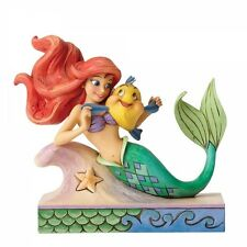 Disney Traditions Fun and Friends Ariel with Flounder Figurine New 4054274