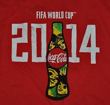 T-SHIRT XL XLARGE COCA COLA COKE FIFA WORLD CUP SOCCER FUTBOL 2014 SHIRT