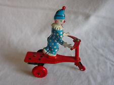 Blechspielzeug Lemezarugyar Zirkus Clown auf Roller mit Schlüssel