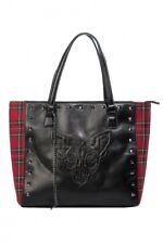 Banned  Phantom Form Tote bag hand bag  Sphynx goth Tartan