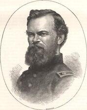 MILITARIA. Civil War. General McPherson c1880 old antique print picture