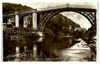 Antique RPPC real photograph postcard The Iron Bridge erected 1779 river