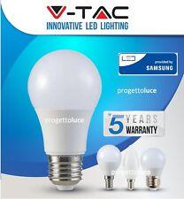 LAMPADINE LED V-TAC PRO da 2W a 20W Lampada E27 BULB Globo GOCCIA CHIP SAMSUNG