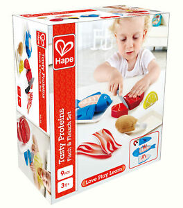 HAPE E3155 Tasty Proteins Childrens Toy Wooden Play Food Age 3 Years +