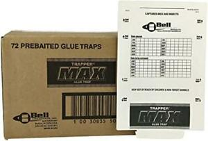 TrapperMax X 72 FULL BOX Professional STICKY COCKROACH SPIDER INSECT +MORE TRAP