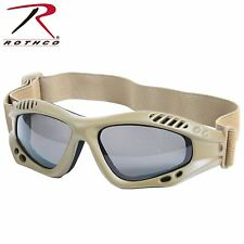 Rothco Coyote Brown VenTec Tactical Goggles Anti-Scratch/Fog Lenses