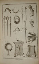 Stampa antica Antichità archeology Diderot D'Alambert 1780 old print kupferstich