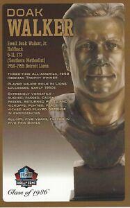 Doak Walker Detroit Lions  Football Hall of Fame Bust Card