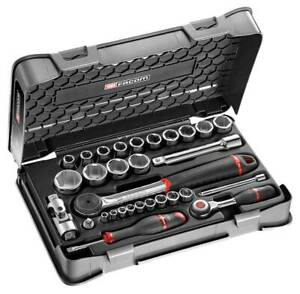 """Facom RS.360-1 1/4"""" and 1/2"""" Drive 30 Piece Metric 6 Point Socket Set"""