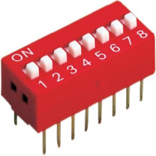 5 Pack -  8 Way DIP Switch
