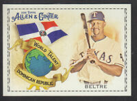 Topps - Allen & Ginter 2018 - World Talent WT-15 Adrian Beltre Texas Rangers
