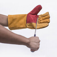 Anti-cutting Thicken Premium Metal Welding Leather Enhanced Heat Resistant Glove