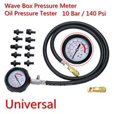 Car Truck Wave Box Pressure Meter Oil Pressure Tester Gauge Garage Test Tool Kit