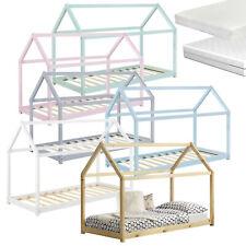[en.casa] Kinderbett Haus Holz Bettenhaus Hausbett Kinder Bett mit Matratze