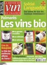 VIN DE FRANCE N°481 LES VINS BIO / SPECIAL LANGUEDOC / CRUS DU BEAUJOLAIS