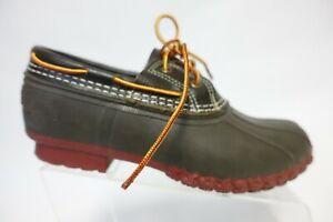 L.L. BEAN Brown Sz 10 M Women Small Batch Leather Duck Boots