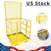 Forklift Safety Cage Telehandler Man Basket / Work Platform W/ Safety Harness
