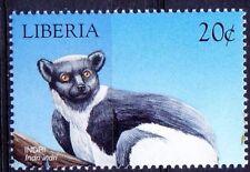 Indri, Babakoto- largest living lemur, Wild Animals, Liberia 1999 MNH -J16