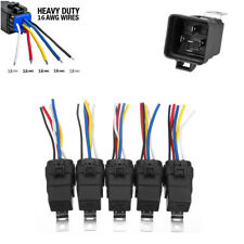 5pcs  5-Pin SPDT Automotive Relays with Harness Waterproof for Car