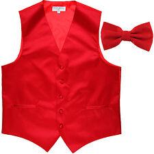 New Men's Formal Vest Tuxedo Waistcoat red_Bowtie wedding prom party