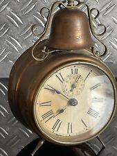 Alter antiker Glocken Wecker Um 1910 Jugendstil Rar Läuft