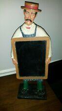 "Vintgae Huebbe Decorative Butcher Grocer Chalkboard Figure 22"" Double Sided"