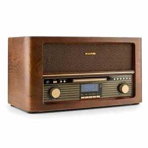 Stereoanlage Retro DAB+ Radio Tuner Bluetooth Musikanlage Encoding MP3 CD USB
