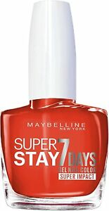 Maybelline Superstay 7 Days Super Impact Nail Color 884 Non-Stop Orange