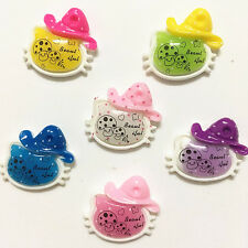 6pcs MIX Pink Love Candy Resin Flatback Scrapbooking Phone Case Hair Bow