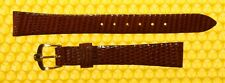 12mm Vintage OMEGA Real-Lizard Leather Watch Strap Band BROWN Swiss Made <NWoT>
