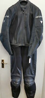 Dainese M4 Two Piece Touring Motorcycle Leathers Suit Black EU 54 UK 44