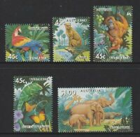 Australia 1994 : Zoos - Endangered Species, Set of 5 Decimal Stamps, MNH
