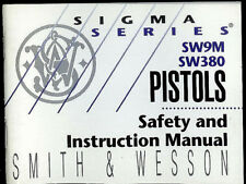 1996 Smith & Wesson SW9M SW380 Semi Automatic Pistols Factory Owner's Manual