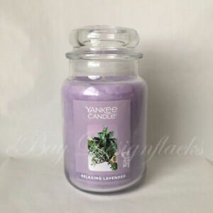 Yankee Candle ~ RELAXING LAVENDER ~ 22oz Large Jar *Free Expedited Shipping*