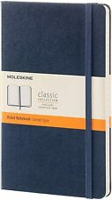 Moleskine Classic Notebook, Large, Ruled, Sapphire Blue, Hard Cover (5 X 8.25)