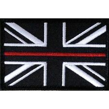 Thin Red Line Union Jack Hook & Loop Patch LARGE Fire Fighter Fire & Rescue