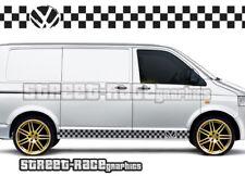 VW Volkswagen Transporter 007 T4 T5 de Gráficos Pegatinas Rayas caravanas Racing