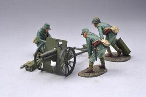 THOMAS GUNN WW 2 RISING RS031A Japanese Cannon and 3 Crew Green Uniform MIB
