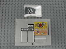 LEGO 10220 - VW Volkswagen T1 Bulli Campingbus STICKER / AUFKLEBER NEU NEW 10187