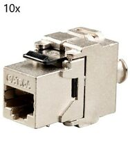 10x Keystone Jack Cat6A RJ45 Network Module Plug Toolfree 180 Degree Shielded