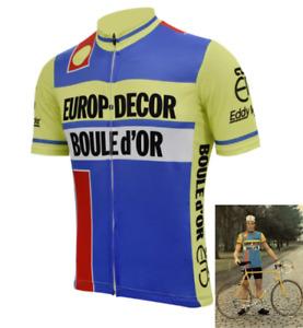Maillot Cycliste Europ Décor Vintage Rétro Tour de France Vuelta Giro Classic